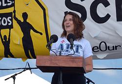 Mary Cathryn Ricker, President of the Saint Paul Federation of Teachers
