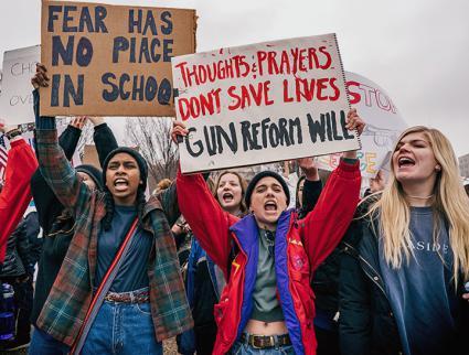 gun protest_students